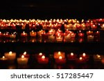 candles in church. selective... | Shutterstock . vector #517285447