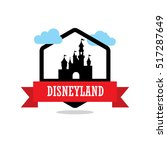 Disneyland Ribbon Banner With...