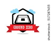 ground zero ribbon banner with... | Shutterstock .eps vector #517287655