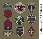 set of army badge typography  t ... | Shutterstock .eps vector #517289641