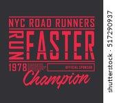 athletic sport running... | Shutterstock .eps vector #517290937