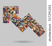 large group of people in the... | Shutterstock .eps vector #517291201