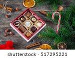 christmas gifts  christmas... | Shutterstock . vector #517295221