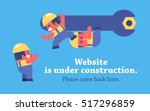 page under construction design. ... | Shutterstock .eps vector #517296859