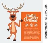 Reindeer Cartoon Showing Or...