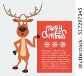 cartoon christmas santas...   Shutterstock .eps vector #517297345