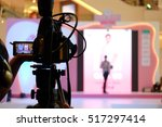 photographer video recording... | Shutterstock . vector #517297414