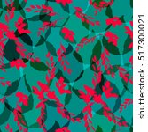 dark green leaves background... | Shutterstock .eps vector #517300021