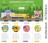 warehouse and logistics... | Shutterstock .eps vector #517301611