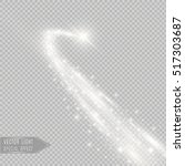 vector golden sparkling falling ... | Shutterstock .eps vector #517303687