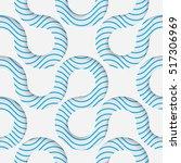 seamless ribbon pattern.... | Shutterstock .eps vector #517306969