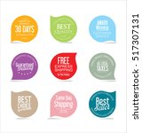 set of modern sale stickers | Shutterstock .eps vector #517307131
