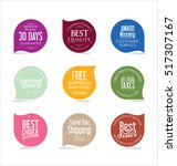 set of modern sale stickers | Shutterstock .eps vector #517307167