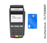 bank payment terminal. pos...   Shutterstock .eps vector #517308889
