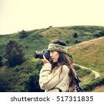 woman photography camera nature ...   Shutterstock . vector #517311835