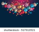 christmas background with lots... | Shutterstock .eps vector #517313521