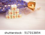 little chocolate sweets in a...   Shutterstock . vector #517313854
