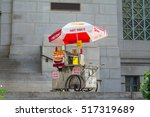 hot dogs cart in downtown los... | Shutterstock . vector #517319689