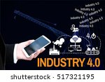 bausiness man and mobile phone... | Shutterstock . vector #517321195
