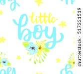 vector cute baby shower... | Shutterstock .eps vector #517321519