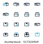 simple set of box and crates... | Shutterstock .eps vector #517324969
