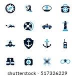 coast guard icon set for web... | Shutterstock .eps vector #517326229