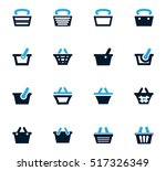 shopping bascket icon set for... | Shutterstock .eps vector #517326349