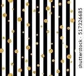 gold polka dot on lines... | Shutterstock .eps vector #517326685