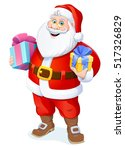 christmas. santa claus with... | Shutterstock .eps vector #517326829