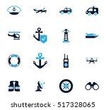 coast guard icon set for web... | Shutterstock .eps vector #517328065