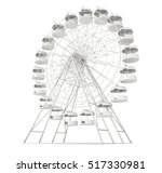 big wheel isolated on white... | Shutterstock . vector #517330981