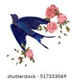 swallow vector  vector... | Shutterstock .eps vector #517333069