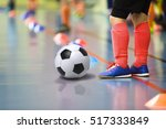 children training soccer futsal ... | Shutterstock . vector #517333849