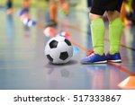children training soccer futsal ...   Shutterstock . vector #517333867