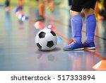 children training soccer futsal ... | Shutterstock . vector #517333894