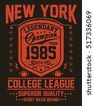 new york sport  college league  ... | Shutterstock .eps vector #517336069