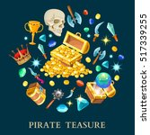 pirate treasure isometric icons ...