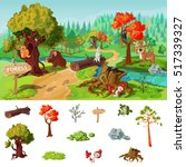 forest elements concept with... | Shutterstock .eps vector #517339327