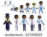 aframerican people aging icon... | Shutterstock .eps vector #517340035