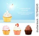 colored realistic birthday card ... | Shutterstock .eps vector #517340245