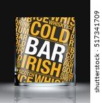 glass of whisky word cloud... | Shutterstock .eps vector #517341709