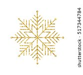 vector geometric winter  golden ... | Shutterstock .eps vector #517344784