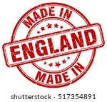 made in england. stamp. | Shutterstock .eps vector #517354891