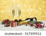 new year toast champagne banner ... | Shutterstock . vector #517359511
