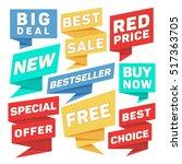 flat speech bubbles  paper... | Shutterstock . vector #517363705