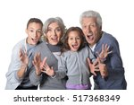 happy grandparents with...   Shutterstock . vector #517368349