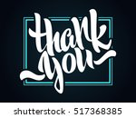 thank you lettering. hand... | Shutterstock .eps vector #517368385