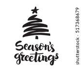 christmas card template. hand... | Shutterstock .eps vector #517368679