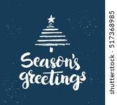 christmas card template. hand... | Shutterstock .eps vector #517368985