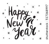 christmas card template. hand... | Shutterstock .eps vector #517368997
